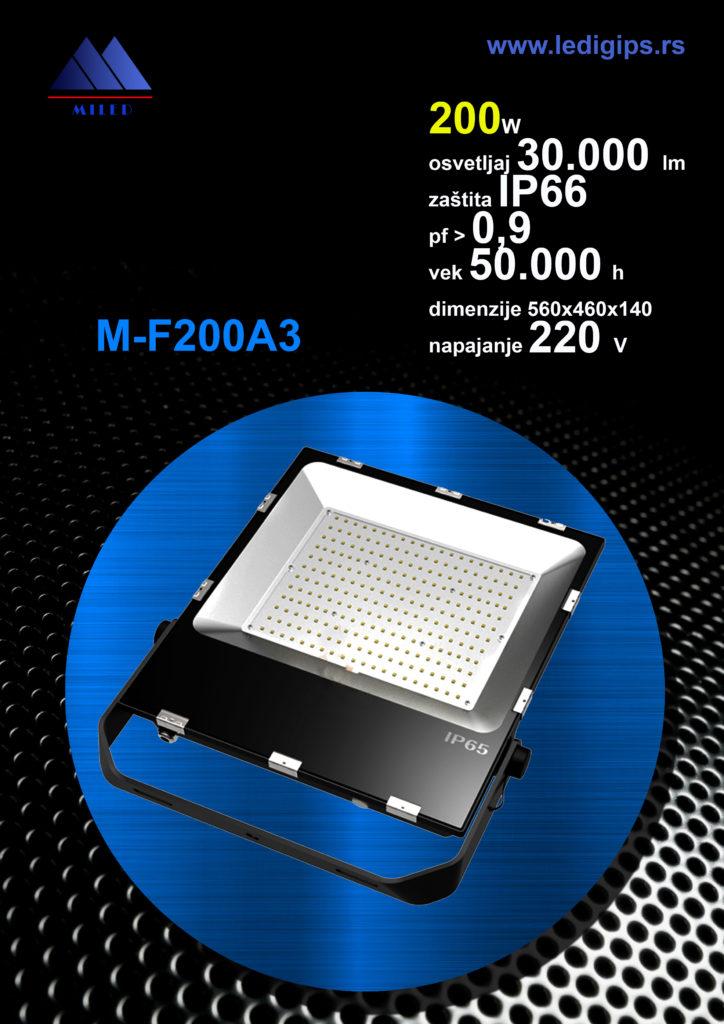 LED reflektor 200w, 150lm/w
