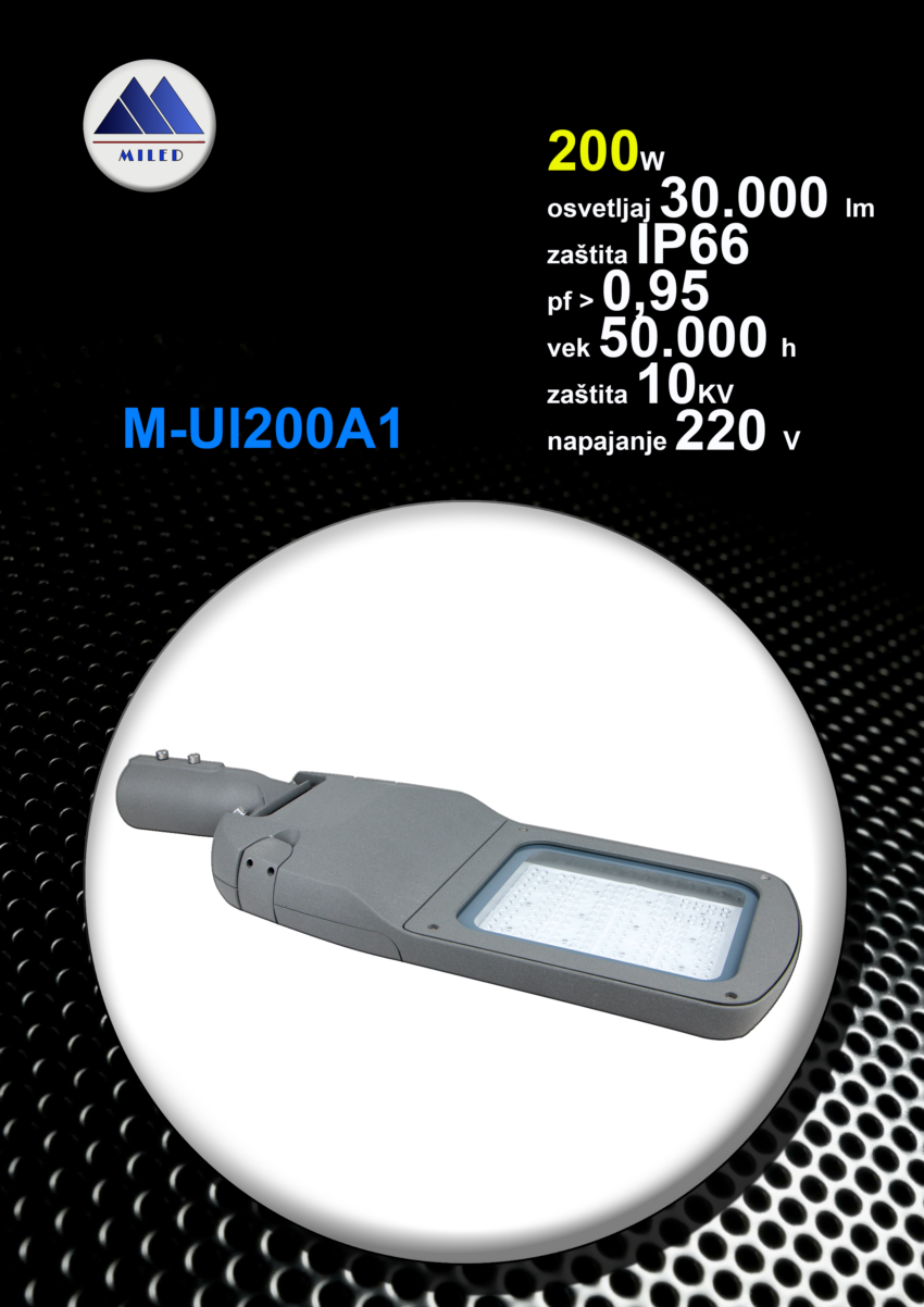 Ulična led svetiljka 200w