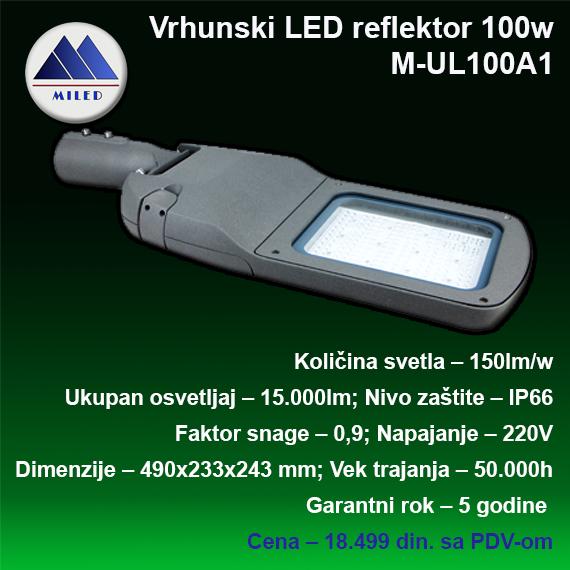 Ulični reflektor 100w