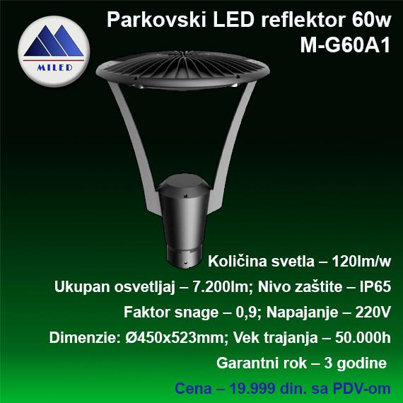 Parkovska led svetiljka 60w